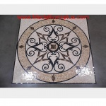 "KRISTINE II, 24"" Polished Square Mosaic Medallion"